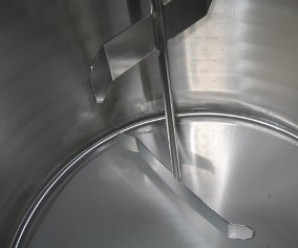 Tank for ice cream industry